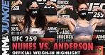 Amanda Nunes vs. Megan Anderson weigh-in highlight | UFC 259