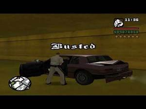 GTA SAN ANDREAS BUSTED 54 (Busted quotes in reverse edition)