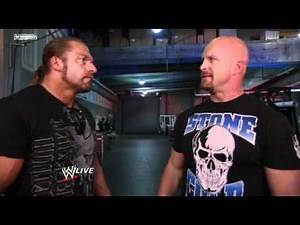 Triple H Crosses Paths With Tough Enough host Stone Cold Steve Austin 2011
