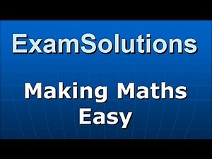 Variable Acceleration Vectors (1) - Differentiation Methods : ExamSolutions Maths Revision