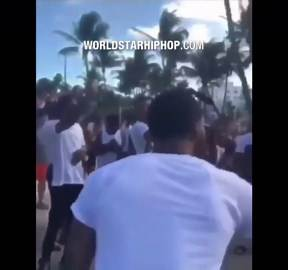 Foul: Dude Knocks A Girl Out During Spring Break In Miami!