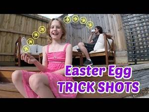 EASTER EGG TRICK SHOTS   Father Daughter