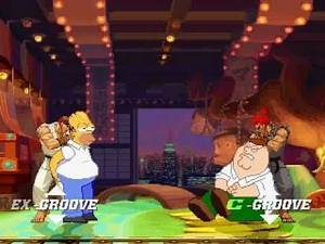 Homer Simpson and Ryu vs Peter and Gouki MUGEN Battle!!!