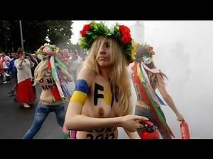 FEMEN activists strip in protest against Euro 2012 - no comment