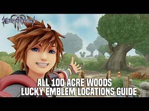 Kingdom Hearts 3 - 100 Acre Woods Lucky Emblem Location Guides (All Mickey Emblem Locations)