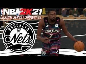 NBA2K21 Custom Jersey Creation: Brooklyn Nets