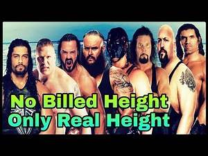 Real Height & Billed Height Comparison Of WWE Superstars || Who Is More Strong ? || Rahul Pandit