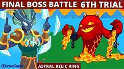 FINAL BOSS BATTLE: HARMONY ISLAND PART 2: ANCIENT ONE 6TH TRIAL BATTLE 2021: How to get ASTRAL RING