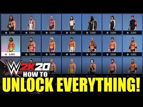 WWE 2K20 - How To Unlock Everything! (#WWE2K20 Tutorial)