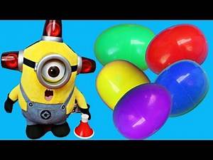 The Despicable Me BEE-DO Fireman Doll Opens Up Surprise Eggs Kids Toys