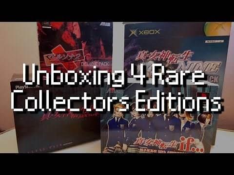 Unboxing Rare Persona and Shin Megami Tensei Collectors Editions