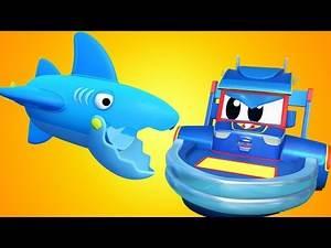 Super Truck - Best of SHARK cartoon - Car City - Truck Cartoons for kids