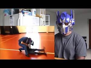 """""""Stone Cold"""" Spidey drops Optimus Prime with Stunner REACTION!!!"""