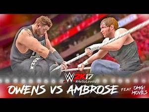 WWE 2K17 Kevin Owens vs Dean Ambrose Full Match PS4 Gameplay
