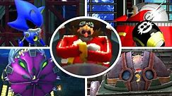 Sonic The Hedgehog 4 Episode 1 & 2 - All Bosses (No Damage)