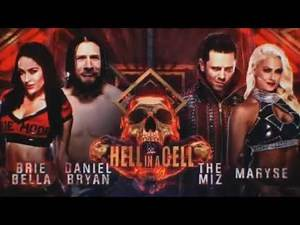 WWE Hell in a Cell 2018 Daniel Bryan & Brie Bella vs The Miz & Maryse Official Match Card