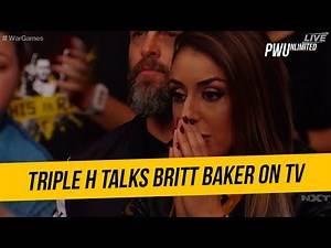Triple H Talks About Britt Baker Being Shown On TV During WarGames