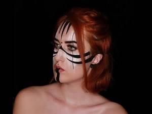 Warrior Face Paint by Ana Cedoviste