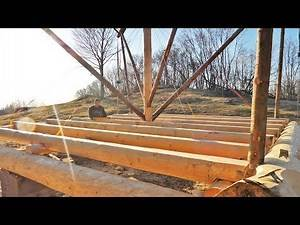Building Off Grid Log Cabin - Ep 13 / Floor Joists