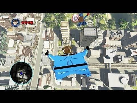 LEGO Marvel Super Heroes Skydiving to Baxter Building 4k Ultra HD 2160p