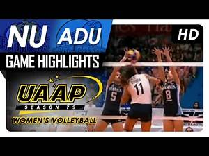 NU vs AdU | Game Highlights | UAAP 79 WV | February 12, 2017