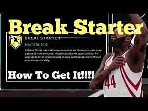 NBA 2K16 Break Starter Badge