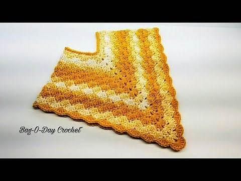 Crochet Toddler Poncho | Lil Golden Girl | Bag o day Crochet Tutorial #416