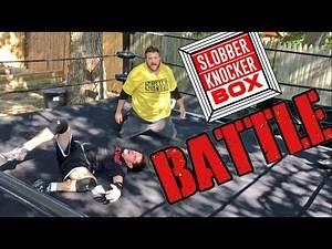 5 WWE FINISHING MOVES TO RAGING MANIAC IN SLOBBERKNOCKER BOX WRESTLING MATCH UNBOXING!