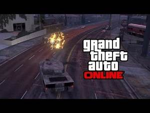 GTA 5 Online - Rhino Tank Gameplay! EPIC DESTRUCTION! (GTA V Online Multiplayer)
