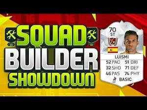 FIFA 16 SQUAD BUILDER SHOWDOWN!!! STRIKER LUISMI!!! SBSD Legend Squad Duel