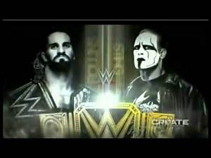 WWE Night Of Champions 2015 Sting Vs. Seth Rollins Official Match Card