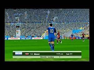 ARGENTINA GERMANY FINAL WORLD CUP 2014 BRAZIL FOOTBALL SOCCER SIMULATION VIDEO GAME PC
