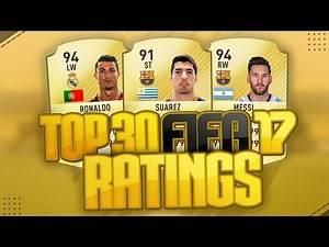 LEAKED FIFA 17 TOP 30 PLAYER RATINGS ft. Messi, Ronaldo, Suarez, Neymar / FIFA 17 ULTIMATE TEAM