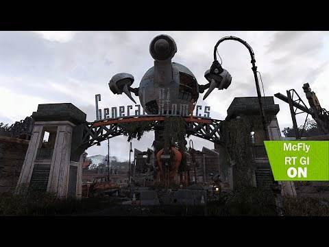 Fallout 4K - RAY TRACING Global illumination | Best graphics | Apex ENB Summer - Winter overhaul