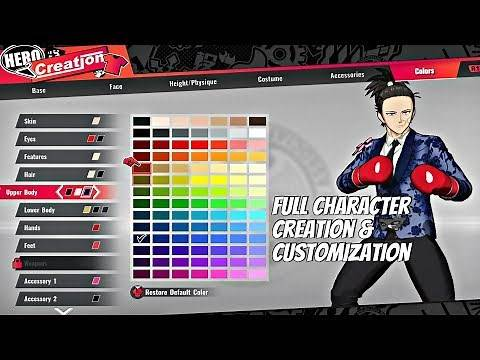 One Punch Man: A Hero Nobody Knows - Full Character Creation & Customization (OPM Game 2020) PS4 Pro