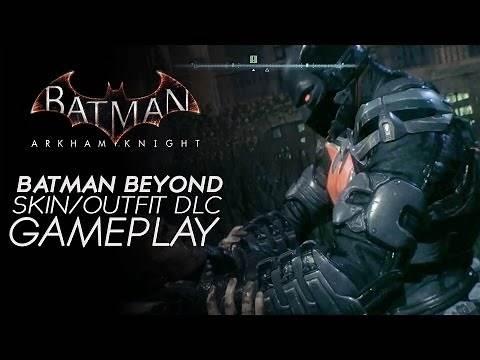 Batman Arkham Knight - Batman Beyond Skin Gameplay (Steam Exclusive DLC)