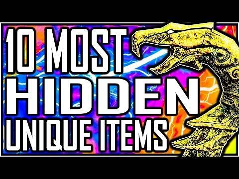 SKYRIM - 10 Most HIDDEN Unique Items