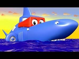 Carl the Super Truck - The SHARK TRUCK - Car City & Monster Town ! Cars and Trucks Cartoon for kids