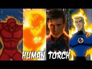 Evolution of Human Torch in movies and cartoons