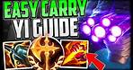 HOW TO CONSISTENTLY CARRY WITH MASTER YI JUNGLE! Best Build/Runes/Jungle Route - League of Legends