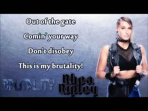 Rhea Ripley WWE NXT Theme - Brutality (lyrics) [feat. Ashley Costello]