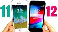 iPhone 5S iOS 11 vs iPhone 5S iOS 12 Speed Test!