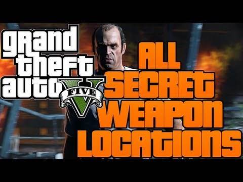 Grand Theft Auto V - ALL SECRET WEAPON LOCATIONS! (How To Get Hidden Weapons!)