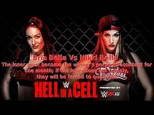 WWE 2K14 Hell In A Cell 2014 Sims - Brie Bella Vs Nikki Bella