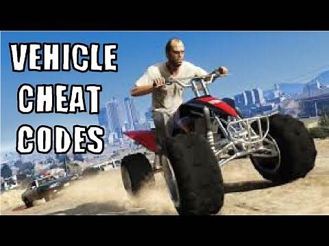 GTA 5 CHEAT CODES FOR VEHICLES