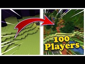 i made 100 Minecraft players turn the End into the Overworld
