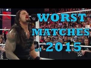 WORST PPV Matches of 2015: WWE TOP 10