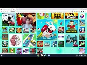 Playing games on poki.com
