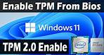 How To Enable TPM From Bios For Windows 11(Intel & AMD) TPM 2.0 Error Fixed