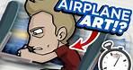 AIRPLANE ART CHALLENGE!? - No Materials, Fast Flight!